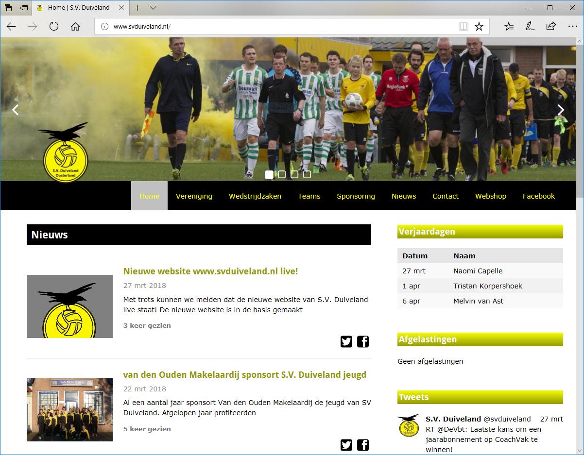 Nieuwe website www.svduiveland.nl live!